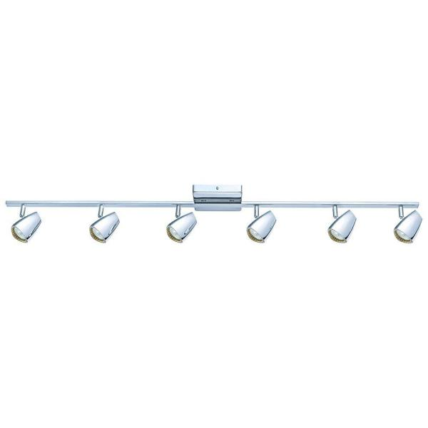 Cobera 6-Light Chrome Track Light
