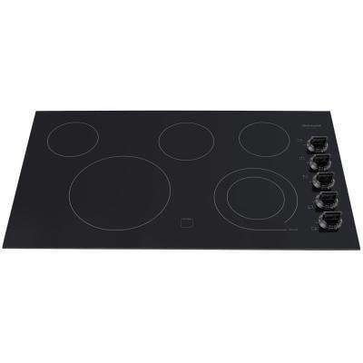 36 in. Radiant Electric Cooktop in Black with 5 Elements