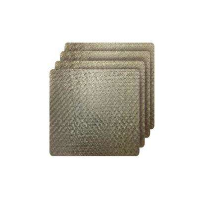 Cambria Gold Metallic Faux Leather Square Placemats (set of 4)