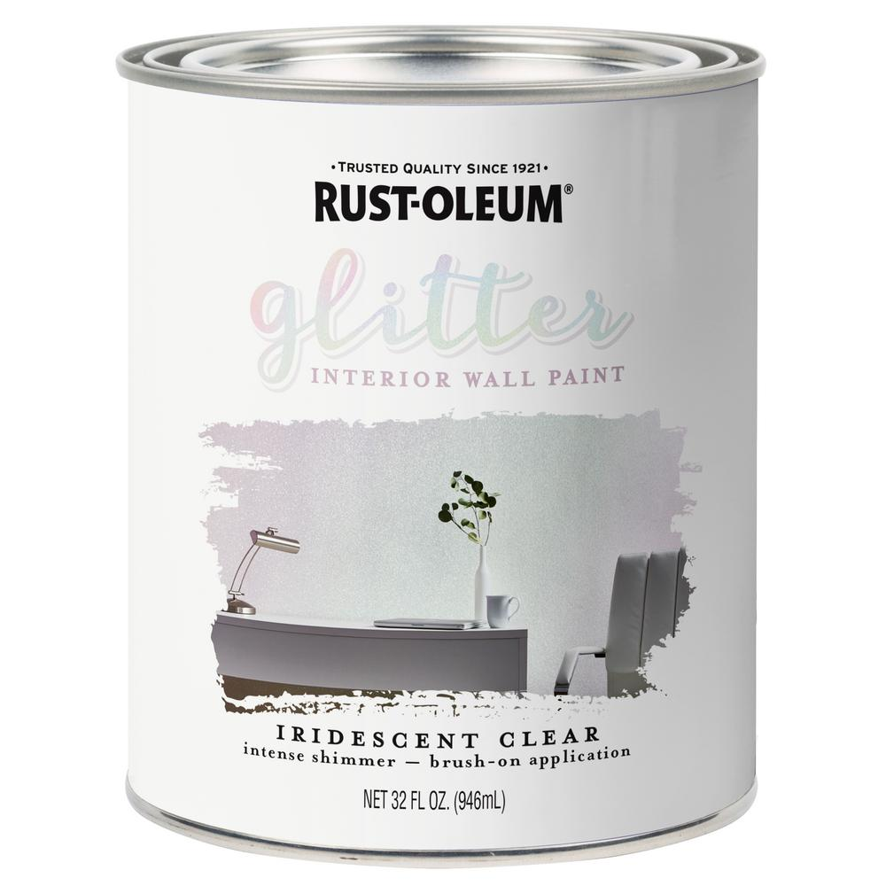 Iridescent Clear Glitter Interior Paint 2 Pack