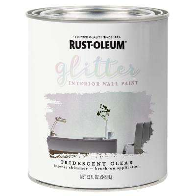 1 qt. Iridescent Clear Glitter Interior Paint (2-Pack)