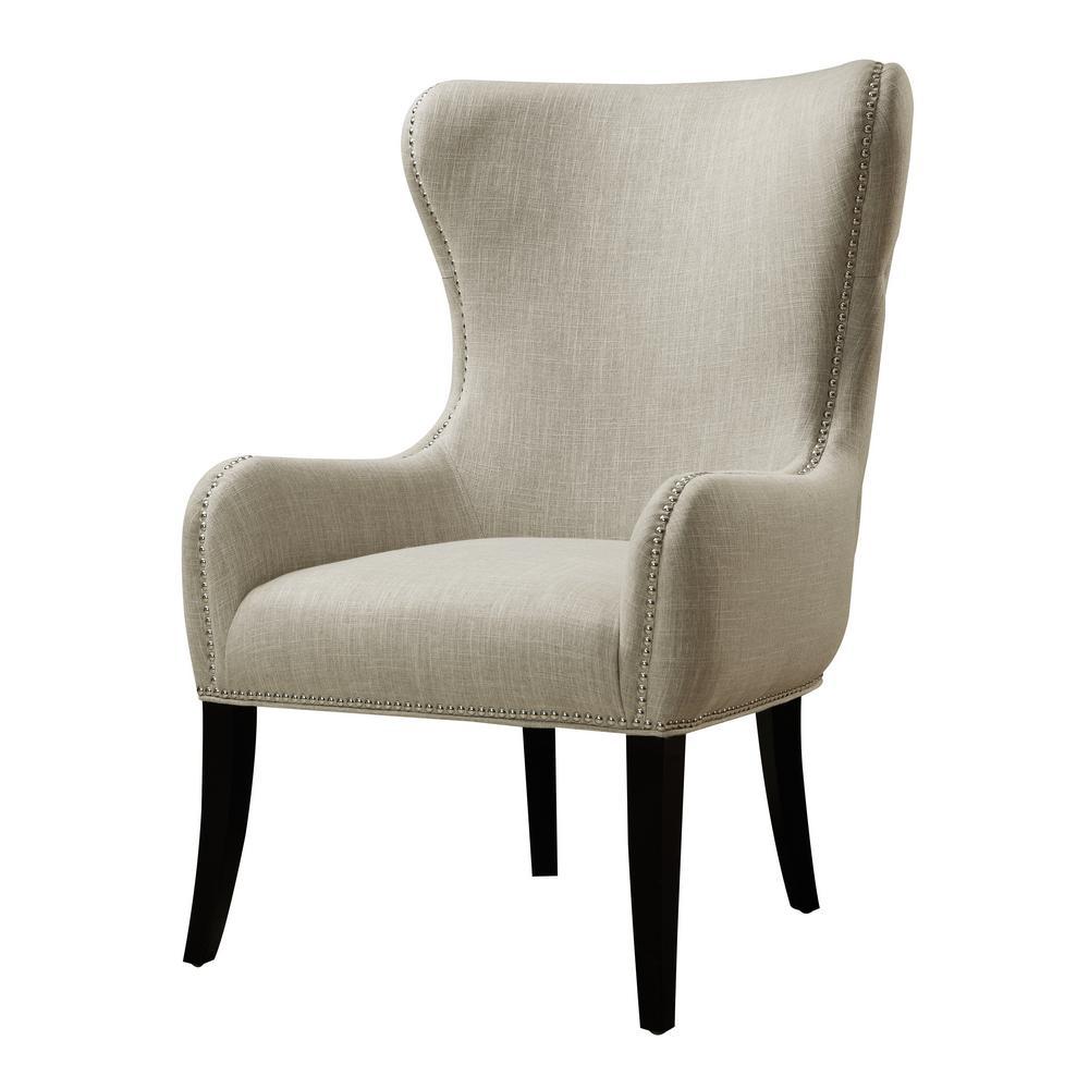 Seraphine Mink Fabric Arm Chair