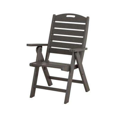 Nautical Slate Grey Highback Patio Chair
