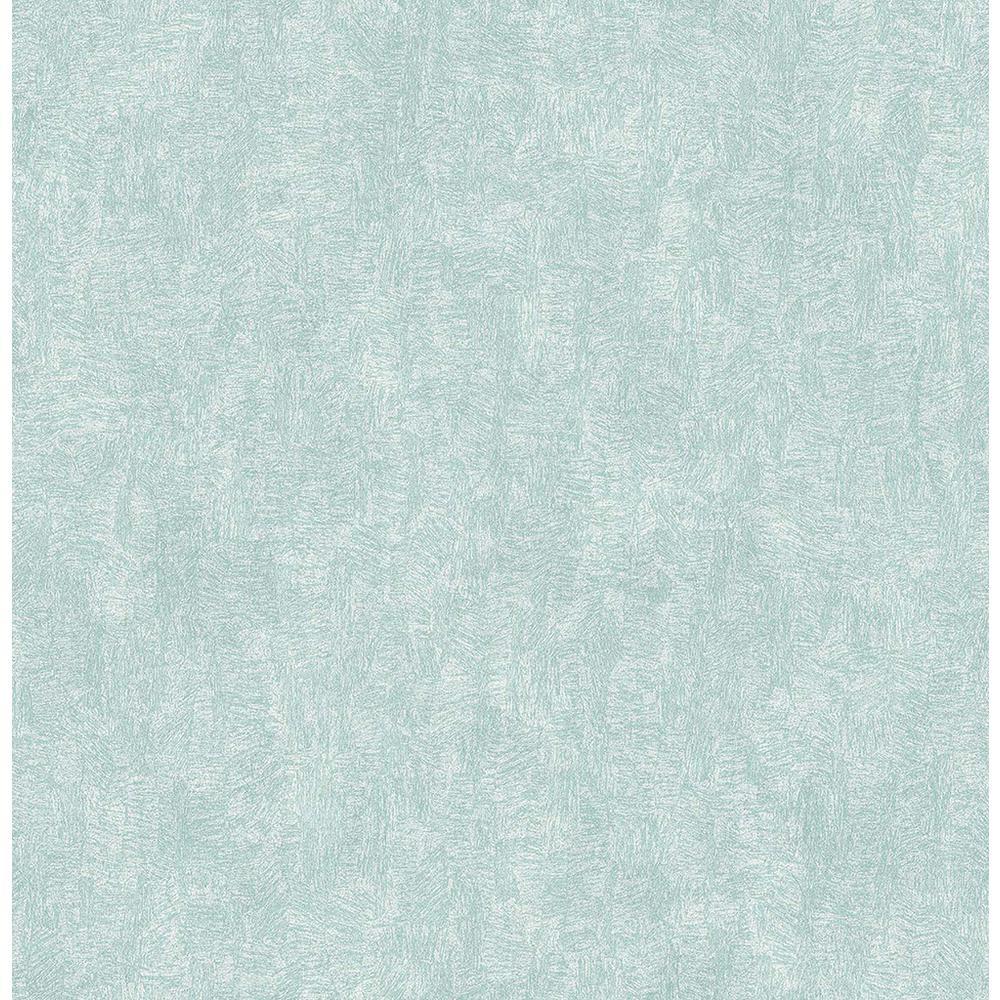 Brewster 56.4 sq. ft. Ludisia Teal Brushstroke Texture Wallpaper 2766-24420