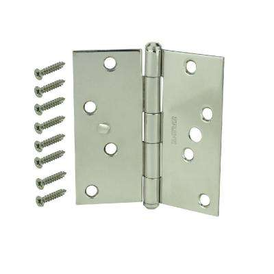 4 in. Stainless Steel Square Corner Security Door Hinge