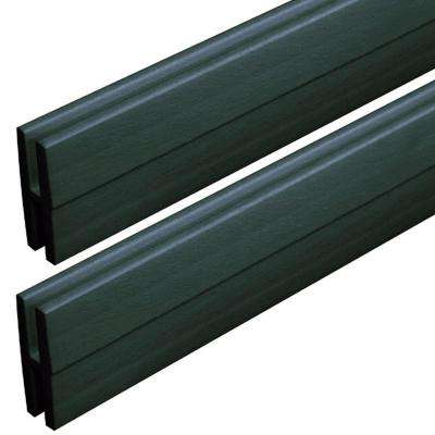 0.74 in. x 2.13 in. x 4 ft. Woodland Green Vinyl Lattice Moulding (2-Pack)