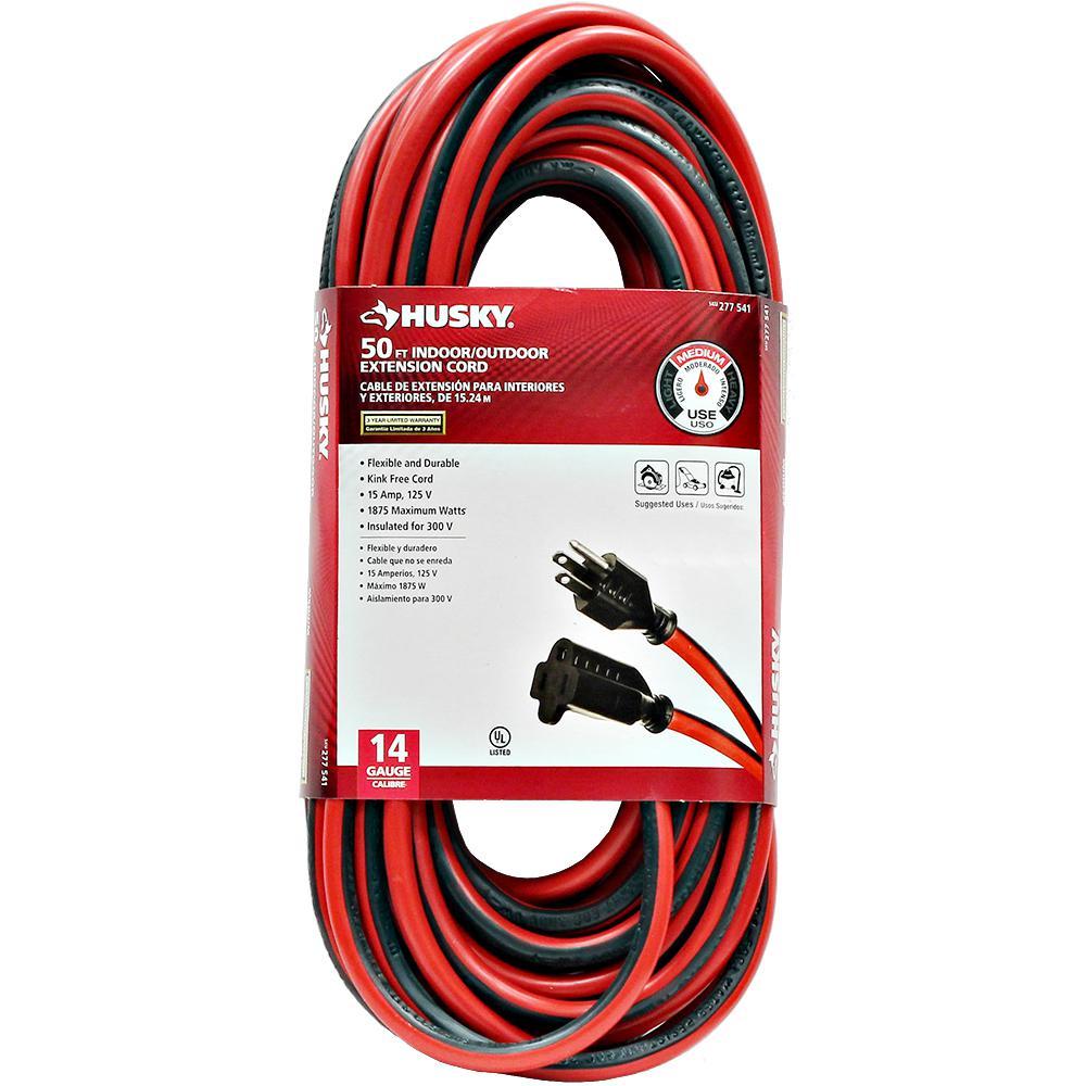 50 ft. 14/3 Medium-Duty Indoor/Outdoor Extension Cord