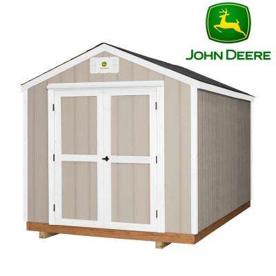 Charmant Backyard Discovery Heavy Duty John Deere 8 Ft. X 12 Ft. Prefab Wood Storage