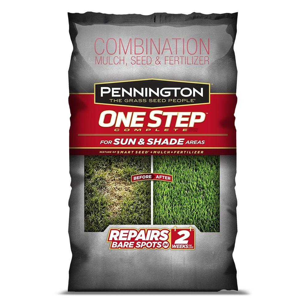 Pennington 8.3 lb. One Step Complete for Sun and Shade North Areas with Smart Seed, Mulch, Fertilizer Mix