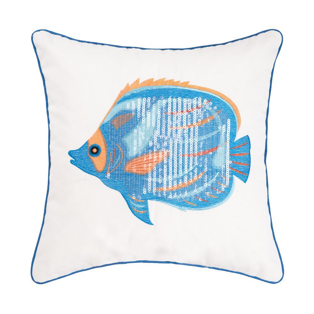 16 in. x 16 in. Galapagos Fish Pillow