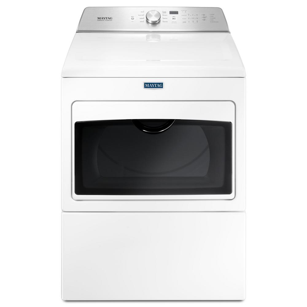 Maytag 7.4 cu. ft. Gas Dryer with Intellidry Sensor in White