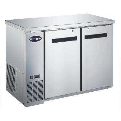 48 in. W 11.8 cu. ft. Commercial Solid Door Under Back Bar Cooler Refrigerator in Stainless Steel