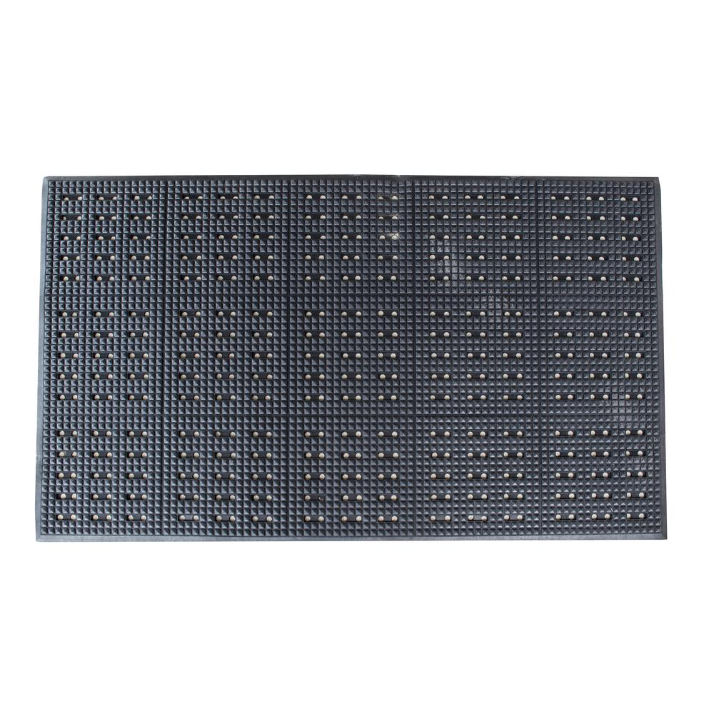 Buffalo Tools 36 in. x 60 in. Industrial Anti-Fatigue Rubber Floor Mat, Black Anti-Fatigue was $70.05 now $29.99 (57.0% off)