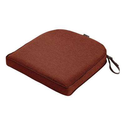 Montlake Fade Safe Heather Henna 18 in. Contoured Outdoor Seat Cushion