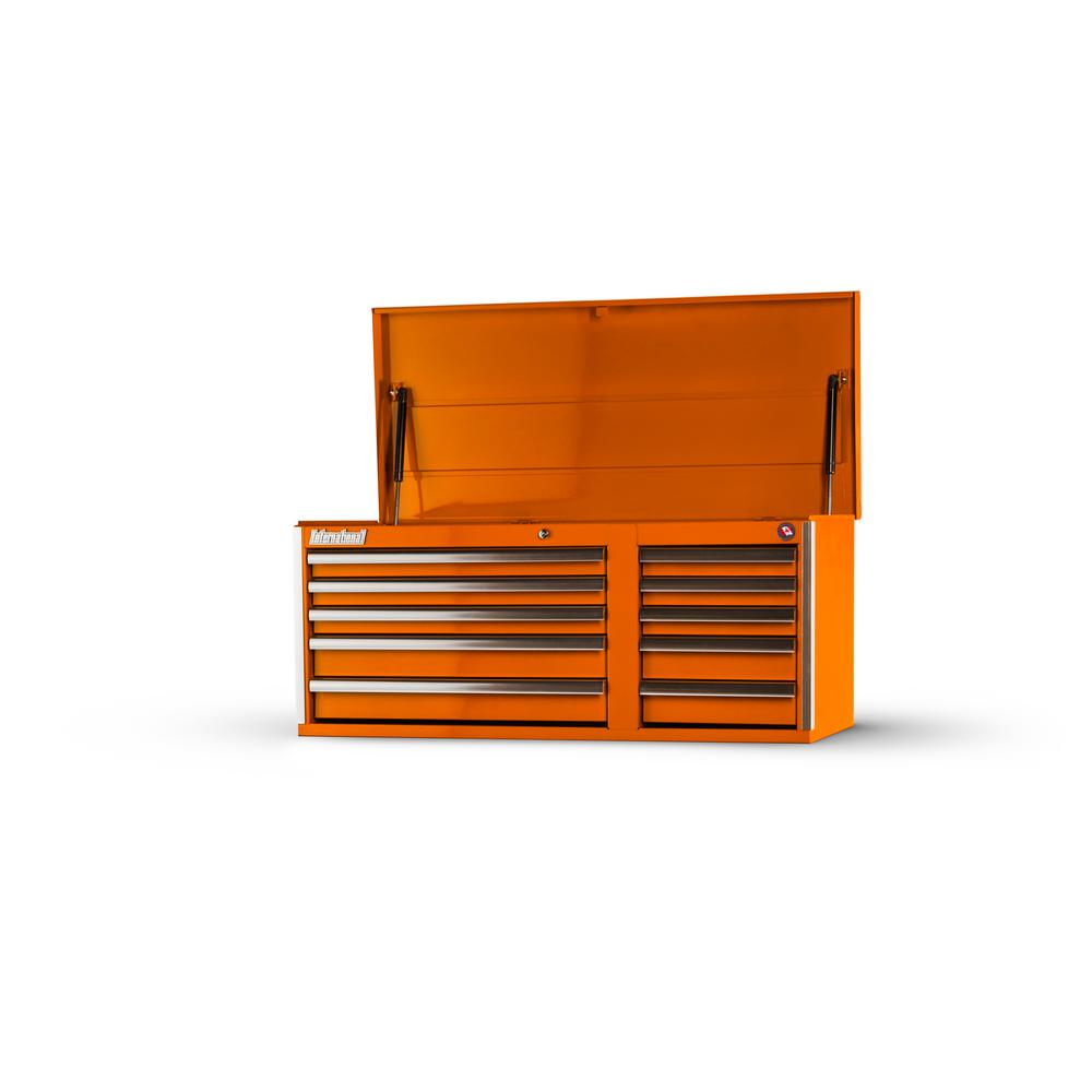 Tech Series 42 in. 10-Drawer Top Chest, Orange