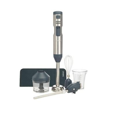 Smart Stick 5-Speed Stainless Steel Immersion Blender with Whisk, Chopper and Electric Knife Attachments