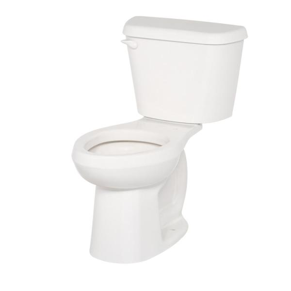 American Standard Colony 2 Piece 1 6 Gpf Tall Height Elongated Toilet In White Seat Not Included 221aa004 020 The Home Depot