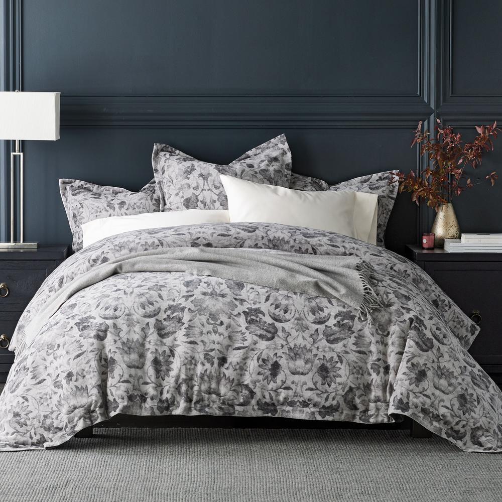 The Company Store Kingston Cotton King Duvet Cover in Gray 50495D-K-GRAY