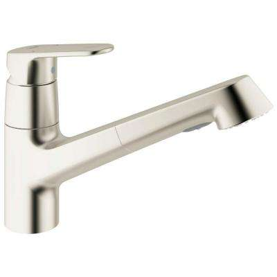 Europlus New Single-Handle Pull-Out Sprayer Kitchen Faucet in SuperSteel