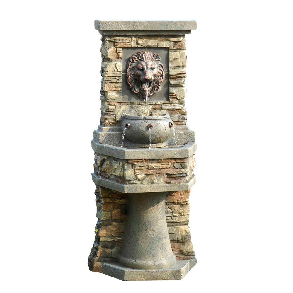 Fountain Cellar Lion Head Outdoor/Indoor Water Fountain-FCL013 - The ...