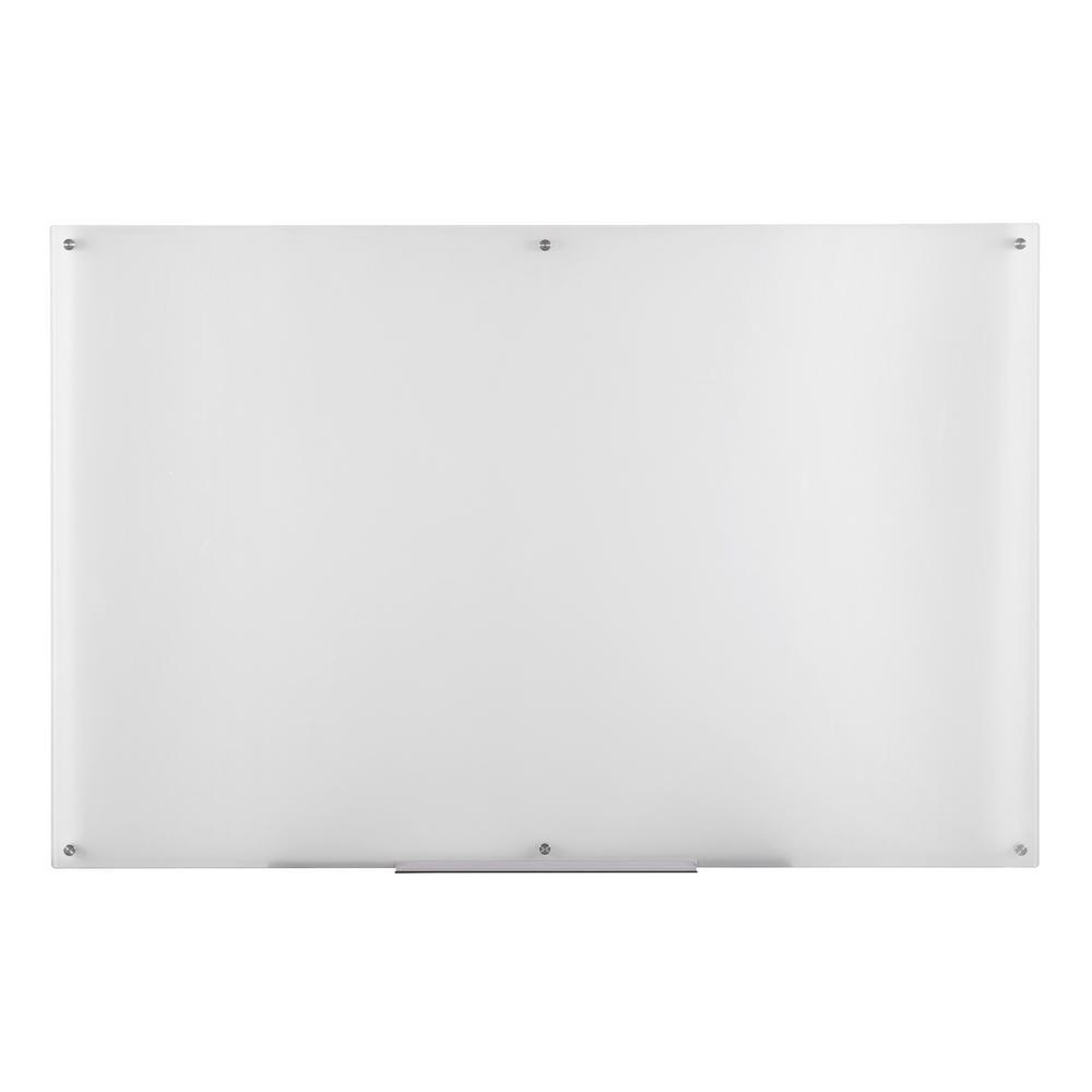 Eddington 39 in. x 59 in. Glass Dry Erase Board in Fog
