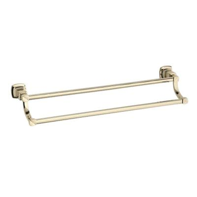 Margaux 24 in. Double Towel Bar in Vibrant French Gold