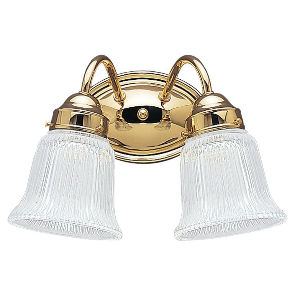 Brookchester 2-Light Polished Brass Vanity Light