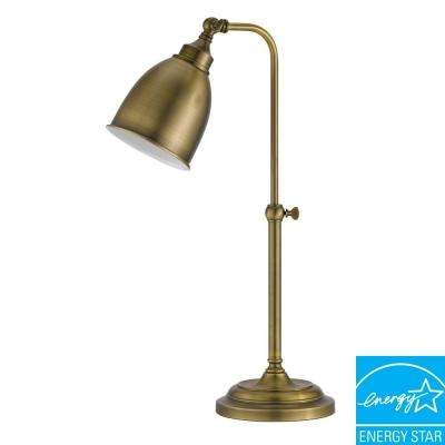 25 in. Rust Metal Adjustable Pharmacy Table Lamp