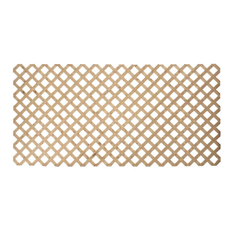 3/4 in. x 48 in. x 8 ft. Pine Pressure-Treated Premium Wood Lattice