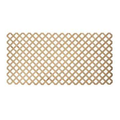 3/4 in. x 48 in. x 8 ft. Pine Pressure-Treated Premium Wood Lattice