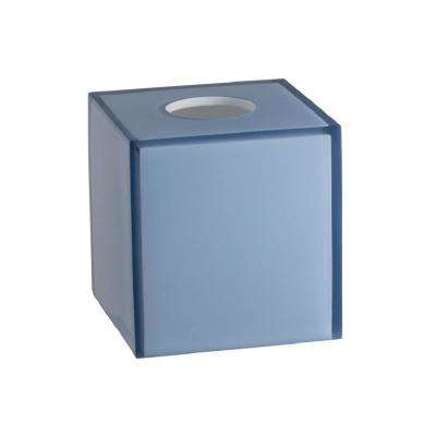 Glacier Frost Tissue Box Cover in Blue