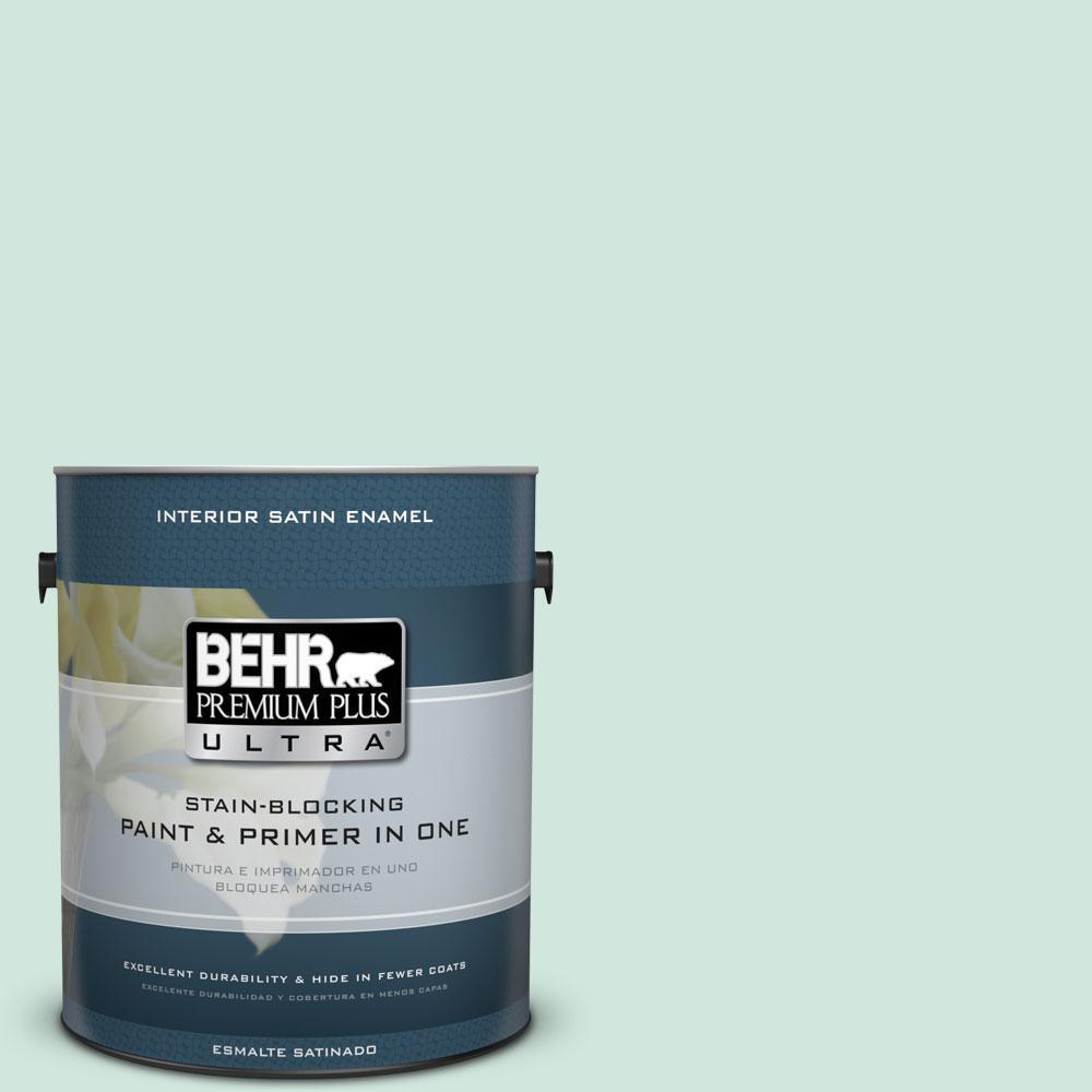BEHR Premium Plus Ultra 1-gal. #M420-2 Green Aqua Satin Enamel Interior Paint