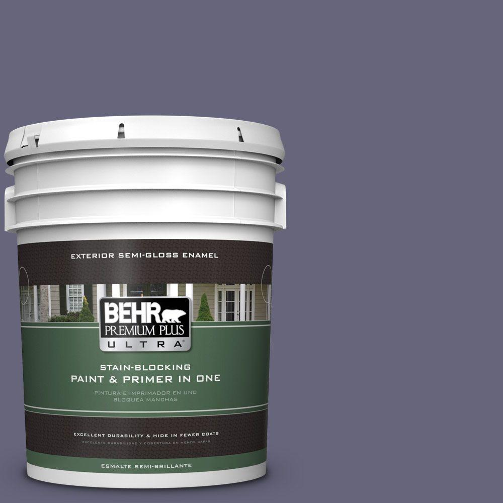 BEHR Premium Plus Ultra 5-gal. #640F-6 Enchanted Evening Semi-Gloss Enamel Exterior Paint