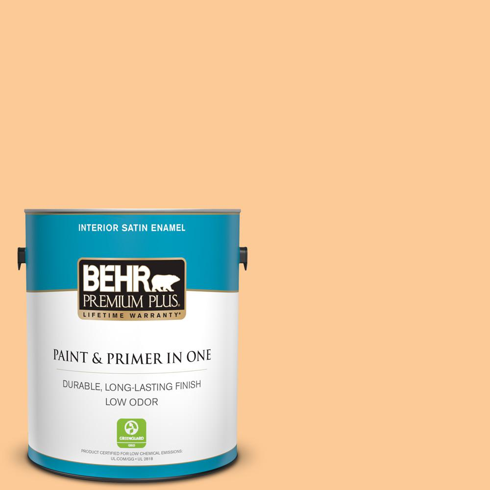 280B-4 Apricot Light Satin Enamel Low Odor Interior Paint and Primer in One 2bb5bb92b2
