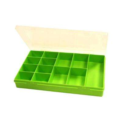 11.5 in. 13-Compartment Small Parts Organizer Box in Lime