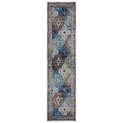 Gala Multi-Color 2 ft. 3 in. x 8 ft. 9 in. Bohemian Tabriz Runner Rug