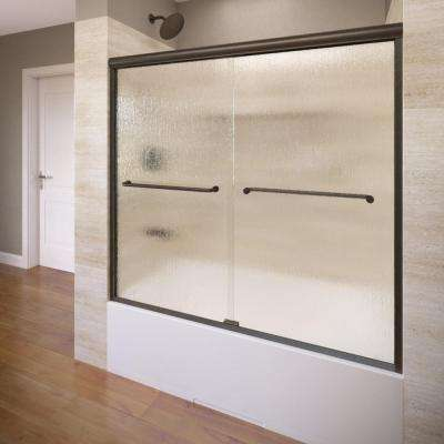 Infinity 58-1/2 in. x 57 in. Framed Sliding Tub Door in Oil Rubbed Bronze
