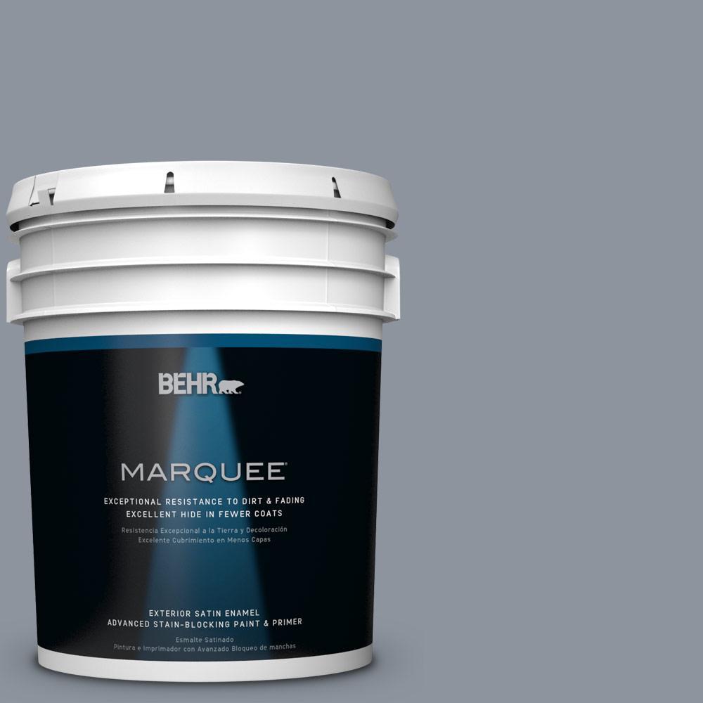 BEHR MARQUEE 5-gal. #BXC-88 Cool December Satin Enamel Exterior Paint