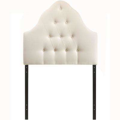 Sovereign  Ivory Twin Upholstered Fabric Headboard