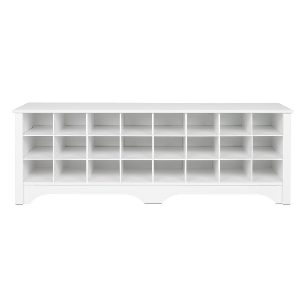 White Shoe Cubby Bench