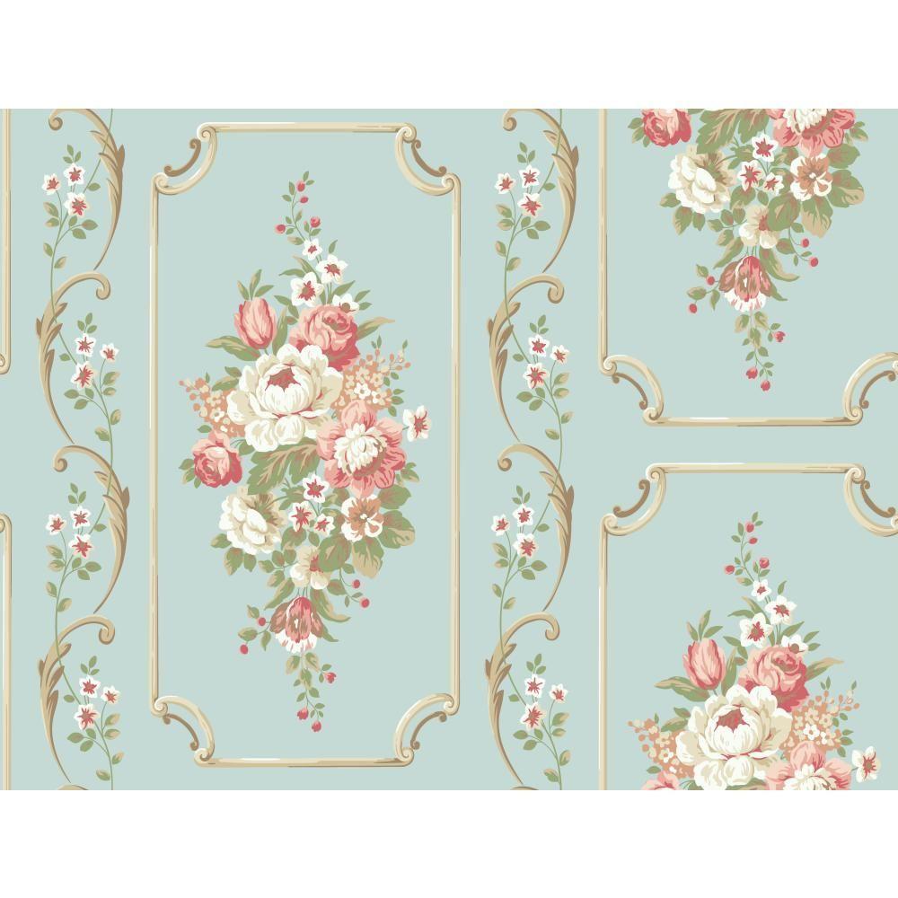 Casabella II Floral Panel Wallpaper