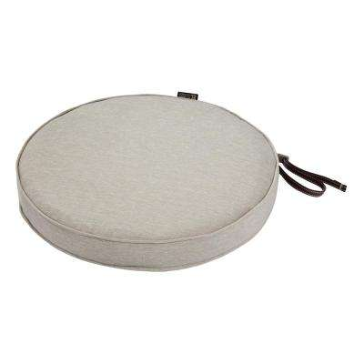 Montlake Fade Safe Heather Grey 15 in. Round Outdoor Seat Cushion