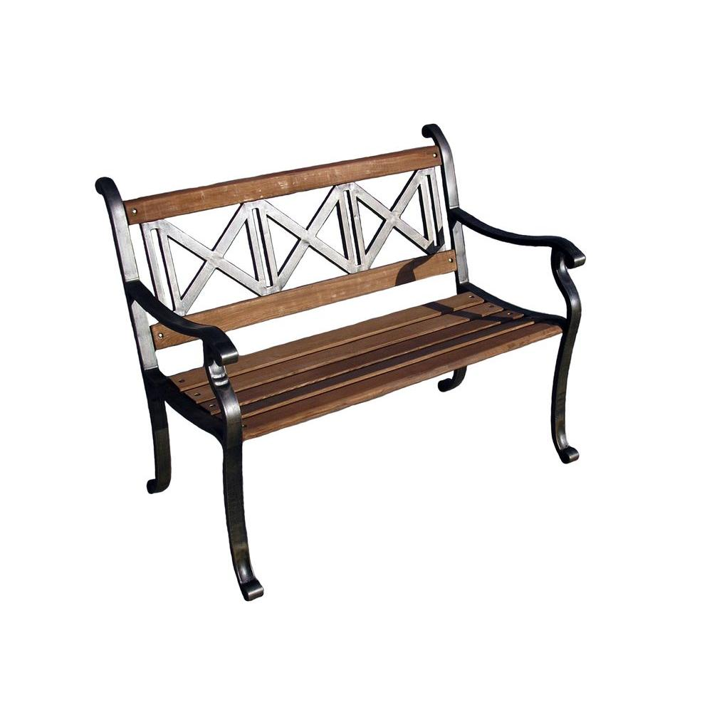 Oakland Living Triple Cross Patio Bench