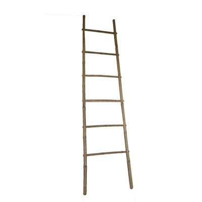 6 ft. H 5-Bar Ladder Rack Hand-crafted with Solid Bamboo