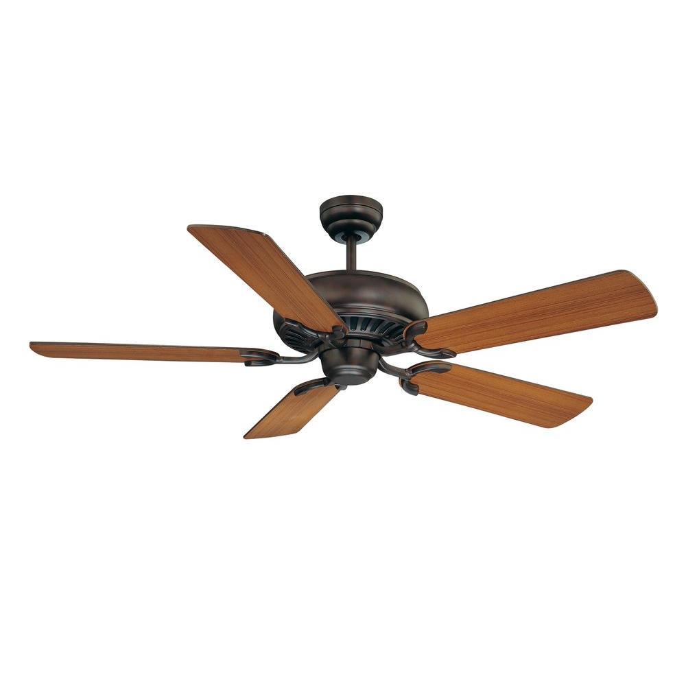 52 in. Indoor English Bronze Ceiling Fan