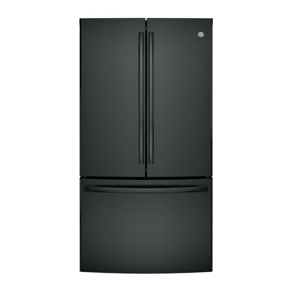Ge 36 in w 285 cu ft french door refrigerator in black ge 36 in w 285 cu ft french door refrigerator in black gne29ggkbb the home depot rubansaba