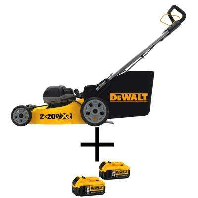 20 in. 20-Volt MAX Lithium-Ion Cordless Battery Walk Behind Push Lawn Mower with 2 Bonus 20-Volt 5.0 Ah Li-Ion Batteries
