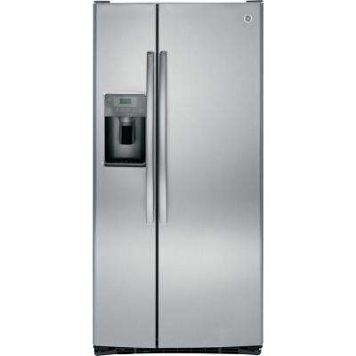 33 in. W 23.2 cu. ft. Side by Side Refrigerator in Stainless Steel
