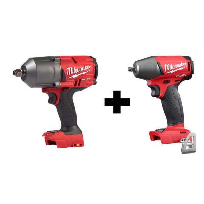 M18 FUEL 18-Volt Lithium-Ion Brushless Cordless 1/2 in. High Torque & Compact Impact Wrench with Friction Ring (2-Tool)