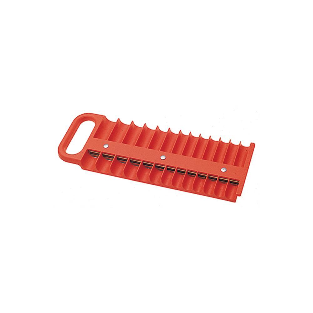 1/4 in. Drive Red Magnetic Socket Holder for 26 Sockets